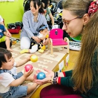 外国人ママの先生とベビー英会話レッスン in 大阪
