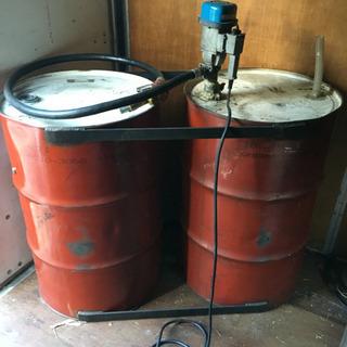 値下げしました、ダブルドラム缶特注加工400ℓ用