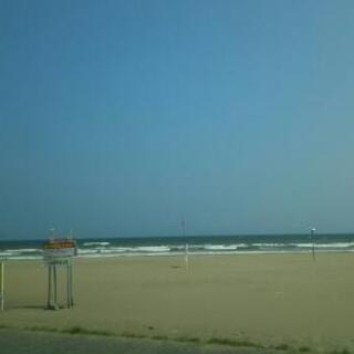 九十九里ビーチライン沿い、屋上から海が見えます