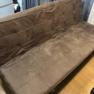 【無料】ソファー  セミダブルくらいのベッドにもなります