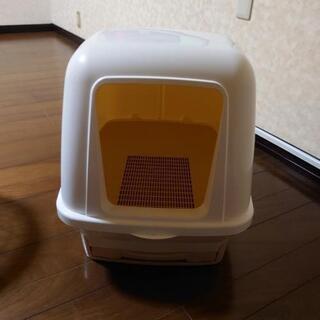 猫用フタ付きトイレ ほぼ未使用