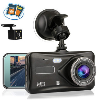 新品★ドライブレコーダー 前後カメラ  32Gカード付き