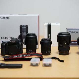 【最新カメラ】EOS80D ダブルズームキット + 高級レンズ ...