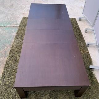 ローテーブル伸縮型 ブラウン