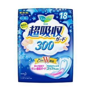 花王 ロリエ 超吸収ガード 300 特に多い夜用 羽つき 18コ...