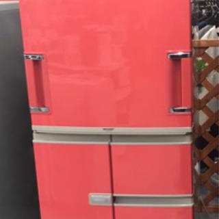ピンクオレンジ色 SHARP 冷凍冷蔵庫365L 【2004年製】