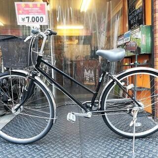 ☆整備済リサイクル自転車 27インチ シティーサイクル LEDオ...