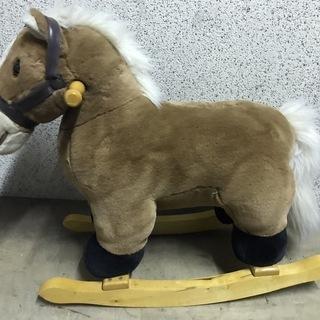 馬 ゆりかご 乗り物 ロッキングチェア ぬいぐるみ 幅70cm×...
