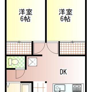 真鍋エリアで初期費用3万円で入居出来る 2DKのアパートです。 猫や小動物の飼育相談可能(犬不可)敷金のお預かりがあります。 - 不動産