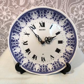 昭和レトロ☆懐かしい色合いの皿時計  SEIKO製