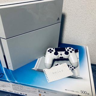 【お譲り先が決まりました】PS4 500GBホワイト 説明書箱付...