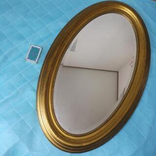 ヴィンテージ調の大きな鏡