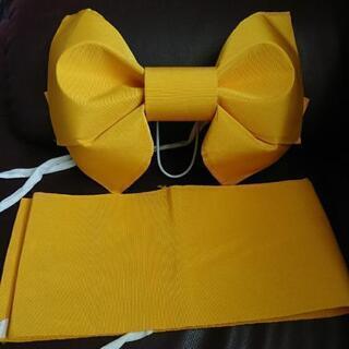 浴衣の結び帯 (黄色)