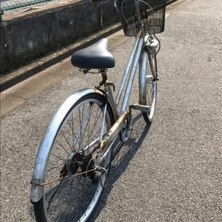 中古自転車27インチオートライト(シルバー)【売却済】