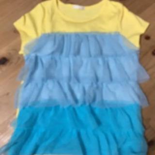 GU フリルTシャツ 女の子 150