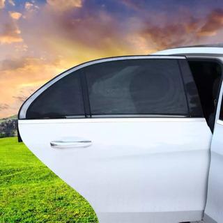 車用網戸 ウインドーネット 2枚入 虫よけ  換気  遮光サンシェード  日除け - 車のパーツ