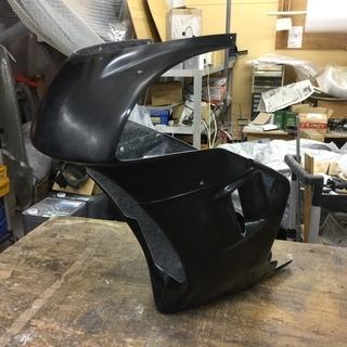 NSR50後期形状カウリング 黒ゲル仕上げ