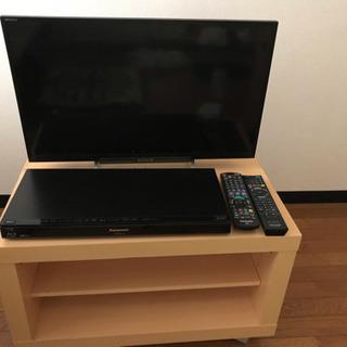 液晶テレビブラビア、HDDレコーダー、テレビ台の三つでなんと21...