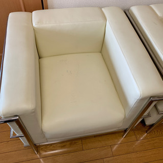 ルコルビジェ lc2 ホワイト 2脚 リプロダクト品