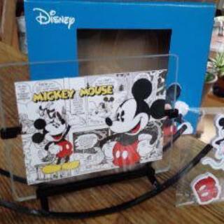 ディズニーフォトフレーム ミッキーマウス 箱あり・ライセンスシールあり