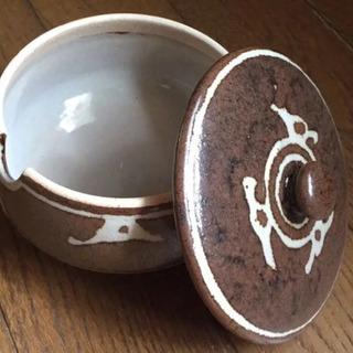 未使用品 口切 陶器 蓋つき容器