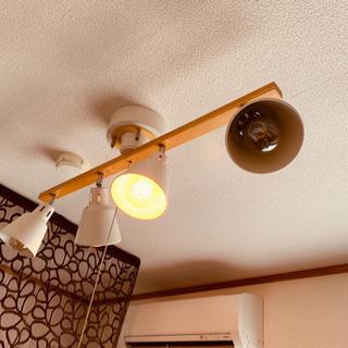 シーリングライト4灯  LEDフィラメント電球付き
