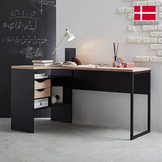 引き取り限定★L字デスク LOWYA  北欧 デンマーク産  ブラックオークの画像