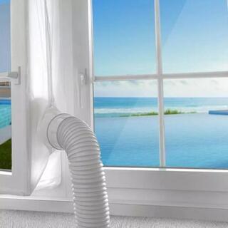 新品!移動式エアコンの排気ダクトでの排気時に窓の開口部を覆う事が...