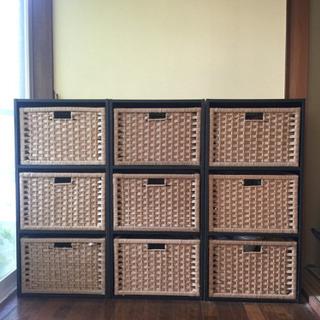 カラーボックスと収納ボックス