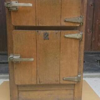 木製 冷蔵庫  レトロ  fuji
