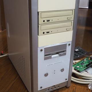 ジャンク扱い タワーPC MB 電源 FDD CD DVD ケー...