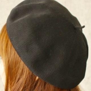 夏 ベレー帽 ブラック黒 未使用