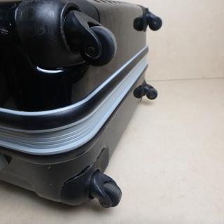 キャリーバック ブラック 鍵付き スーツケース キャリーケース トランクケース メンズ レディース 黒 旅行 大きサイズ ガラガラ タイヤ 付き 中古 宮城 - 岩沼市