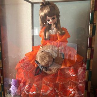 ポーズ人形 フランス人形 ガラスケース アンティーク  ヴィンテ...