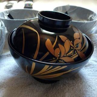 本漆塗り お吸い物椀 5個セット 高級感たっぷり 漆食器