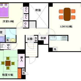 【PAL・HOUSE88】1号タイプ!2LDKタイプ!ワンフロア...