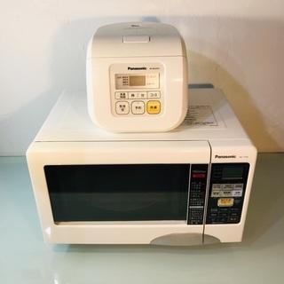 送料無料‼︎ Panasonic オーブンレンジ 炊飯器 2点セ...