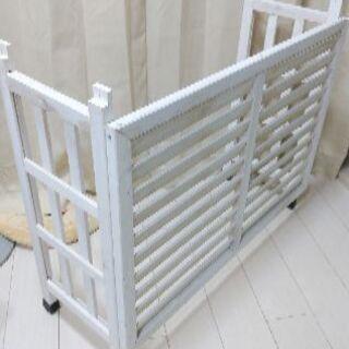 木製エアコンカバー 白