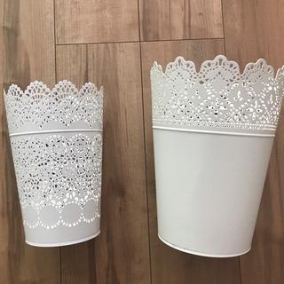 IKEAイケア製 キャンドルホルダーと植木鉢カバー