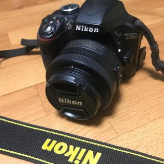 【美品】NIKON D3300 ダブルズームキット+ 単焦点レン...