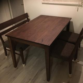 ダイニングテーブルとイスのセット used ブラウン系