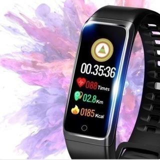 【新品・未使用】スマートウォッチ 血圧 活動量計 心拍計 歩数計...