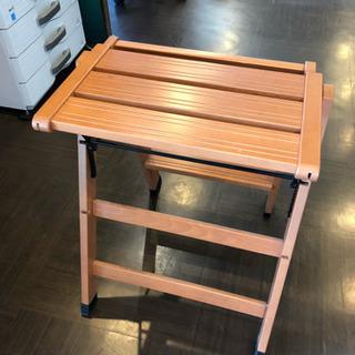 木製 2段 踏み台 ステップスツール フットスツール 脚立 はしご