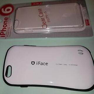 ◆iFace(アイフェイス)ケース白x黒&クリア◆iPhone6...