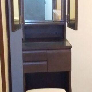 美品 三面鏡 ドレッサー