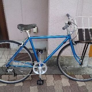 [ビンテージ]700c クロスバイク 7speed/ブルー