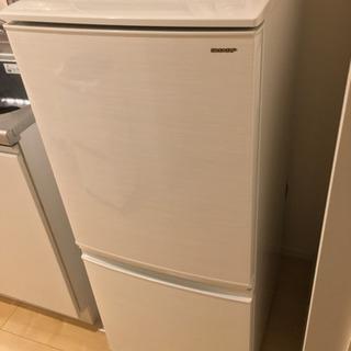【使用1年】SHARP137L冷凍冷蔵庫