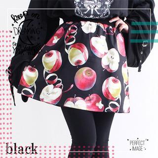 【DrugHoney】毒蜜リンゴ総柄プリントジャージスカート