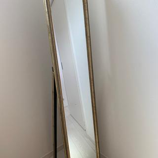 アンティーク  全身鏡  ゴールド 金 ミラー ヴィンテージ