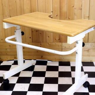 介護テーブル 高さ&奥行調節可能 800×565×690~810...